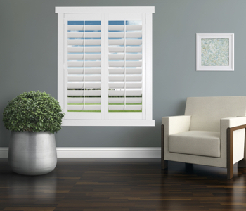 Polywood Shutters in New York City living room